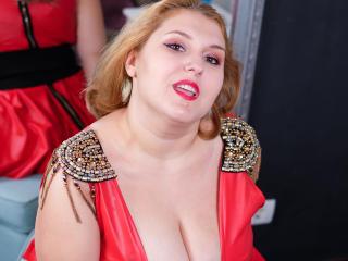 Velmi sexy fotografie sexy profilu modelky ReddAdele pro live show s webovou kamerou!