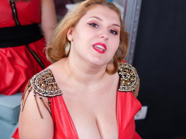 Foto de perfil sexy da modelo ReddAdele, para um live show muito quente!