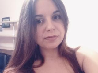 Foto de perfil sexy da modelo NiceArietty, para um live show muito quente!