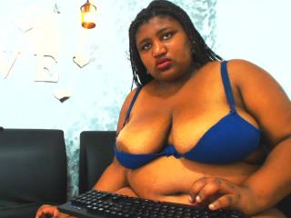 Photo de profil sexy du modèle Marieth, pour un live show webcam très hot !