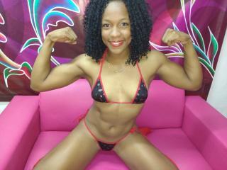 Picture of the sexy profile of BlackMuscleGirl, for a very hot webcam live show !